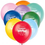 Happy Birthday 10pack printed latex balloons