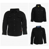 Little Kangaroos Boys Black Casual Shirt(4, 5yrs)