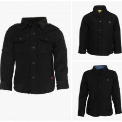 Little Kangaroos Boys Black Casual Shirt(4, 5yrs)