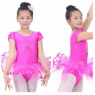 Girls Short sleeve Ballet Tutu Dance dress - 2-7yrs- assorted colours