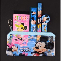Character 7pc Stationery Set in PVC pencil bag- assorted characters (pack of 12)