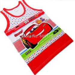 Boys Cartoon Graphic Underwear Vests- assorted designs- 2-8yrs