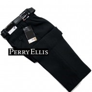 Perry Ellis Boys Tailored Formal Pants with Belt- 5-10yrs