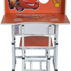 Children's Cartoon Study Table and Chair Set with Clock (4-10years)