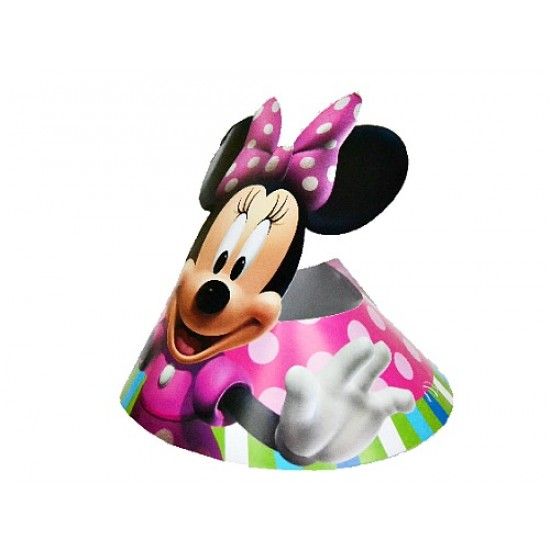 Mickey & Minnie Party Diecut Hats- pack of 6