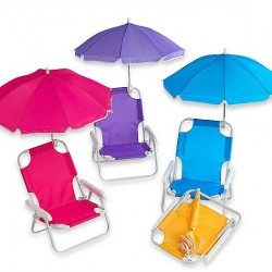 Baby Beach Chair with Umbrella- assorted colours