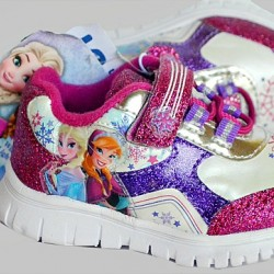 Disney Frozen Baby Girls Lighted Trainers- US size 5