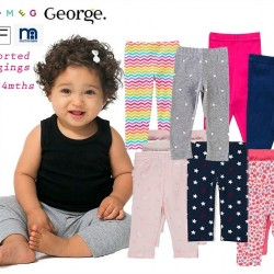 UK Baby Girls Stretch Leggings assorted designs (0-24mths)