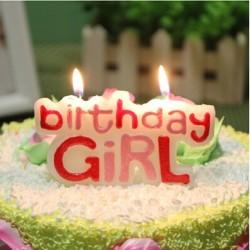 Birthday Boy & Birthday Girl Cake Candles- each sold seperately