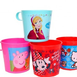 Character Toddler Plastic Cups- assorted- pack of 4