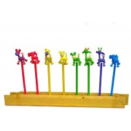 Funky Jungle Wooden Pencils- pack of 6