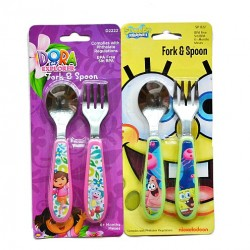 Nickelodeon Dora & Spongebob 2piece Baby cutlery set