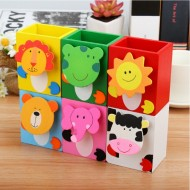 Animal Cartoon Wooden Pen/Pencil Holder
