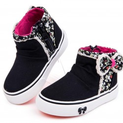 Babaya Girls Floral Bow Hi-top - Size 32- 2 colours