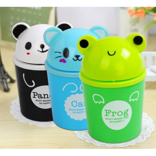 Cute Animal Room Trash Can Orted