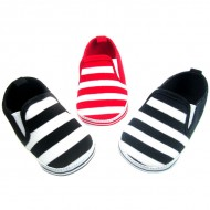 Soft Touch Baby boy Funky Stripe Slip-on Deck shoes (0-12mths)