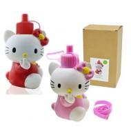NEW 3D Kitty Stainless Steel Vacuum Water Bottles 600ml