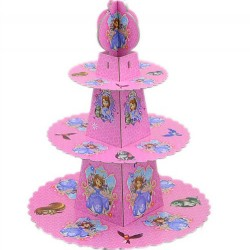 Disney Sofia 3 Tier Cupcake Stand