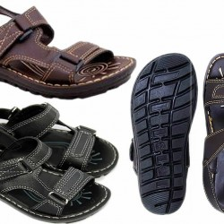 AEROSOFT Boys Sandals - Coffee Brown & Black (Size 34,35,)