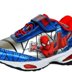 Spiderman Toddler Boys Lighted Athletic Shoe- Size UK 6