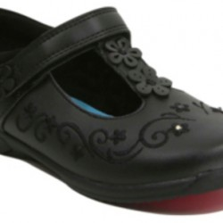 Girls School Disney Frozen T-bar Light-up  Shoes - Black- UK Size 11