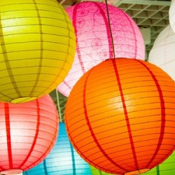 12 Inch Round Colourful Paper Lantern