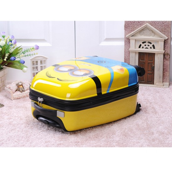 """Minions 17"""" inches 4 wheels Spinner ABS hard shell Luggage Trolley"""