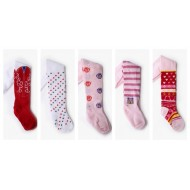 Baby Plus/Younglife  Print Baby Tights with Foot- assorted designs- 0-24mths
