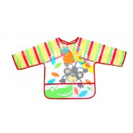 Baby/Toddler Waterproof Long Sleeve Feeding Smock Bib - assorted designs