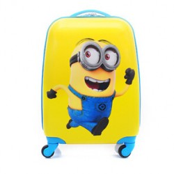 "Minions 17"" inches 4 wheels Spinner ABS hard shell Luggage Trolley"