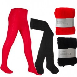 Nifty Baby Girls Knitted Cotton Rich Tights- Red, Black (0-6mths)