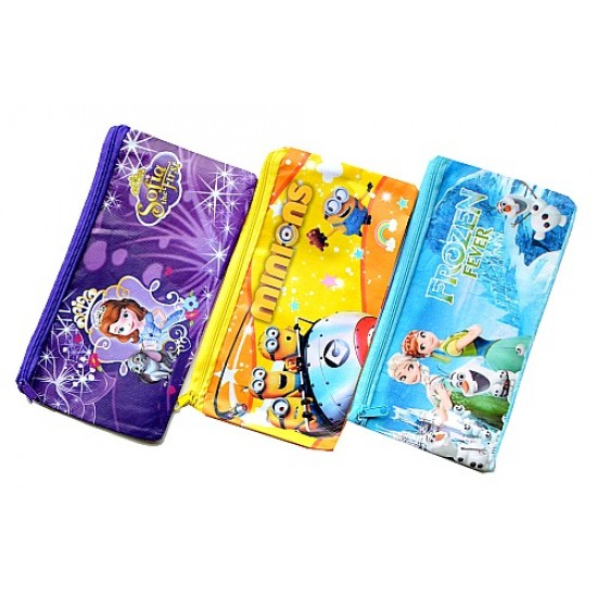 Character Stationery Zippered bags- assorted characters