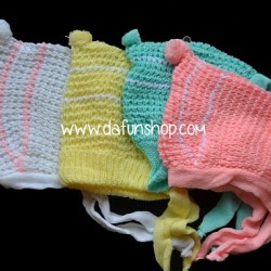 Baby Knitted wool hats with Rope- assorted colours