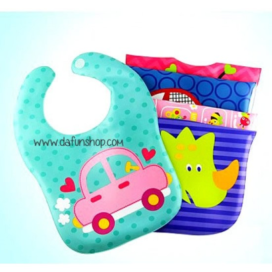 Baby Cute EVA Waterproof  bibs -assorted designs