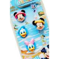 DISNEY MICKEY LCD WATCH WITH 4 INTERCHANGEABLE COVERS