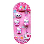 HELLO KITTY LCD WATCH WITH 4 INTERCHANGEABLE COVERS
