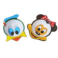 Minnie Mouse & Donald Duck Face Melamine Bowl