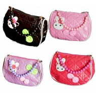 Girls Patent Beaded Hand bag- 4 colours