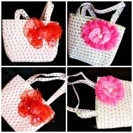 Girls Straw bags- 2 designs
