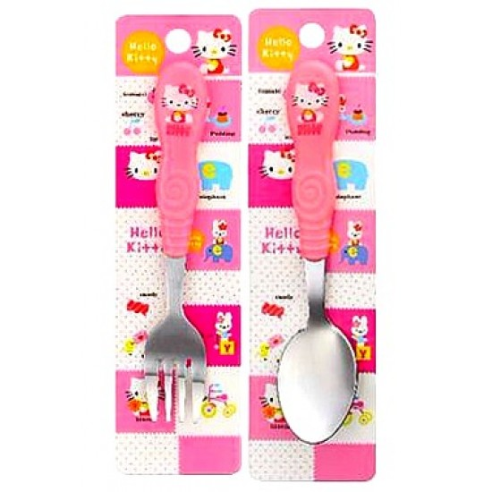 Kids Cartoon 2pc Cutlery set- Hello kitty, Doraemon, Spongebob