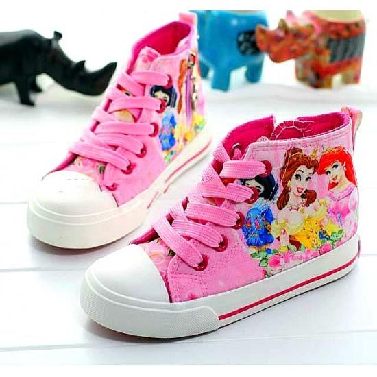 Disney Princess Lace-up Girls hi-top Sneakers (EUR 29)