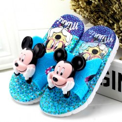 Cute 3D Squeaky Toddler Mickey Slippers - (23-26)