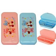 Disney Minnie & Mickey Plastic Cutlery In Case- 2 colours