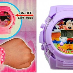 Cartoon Electronic Lights & Music Watch- assorted