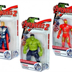 Avengers Age of Ultron Figure in Box with Light (Hulk, Thor, Iron man)