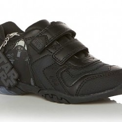Star Wars Boys School Velcro Shoes- with Light up switch (UK 2, 4, 11)