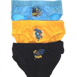 Boys 3 Pack DC Comics Batman Briefs - 5yrs, 7yrs