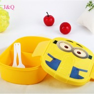 Minions Plastic Lunch box- assorted colours