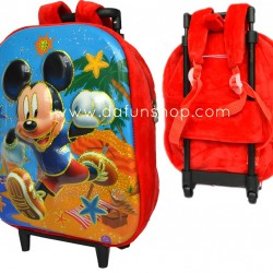 Kindergarten Plush Detachable Backpack Trolley- assorted designs