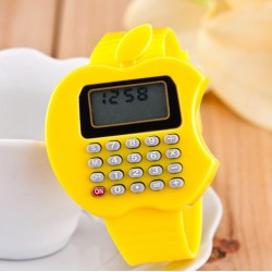 Apple Shape Calculator Kid Watches for Older Kids- assorted colours